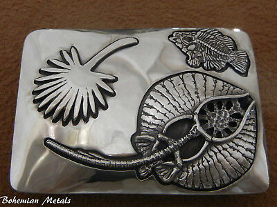Sterling Silver Fossil Belt Buckle Green River Formation