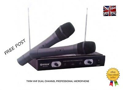 Twin Vhf Dual Channel Professional Microphone New And Boxed