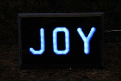 """Led Lighted """"Joy"""" Table Top Decorative Sign Moving Message"""