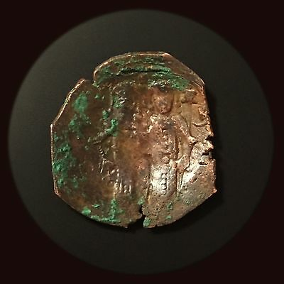 1204-1261 AD Latin Rulers of Constantinople,Christ St.Constantine the Great Coin