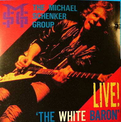 """Michael Schenker Group """"The White Baron, LIVE!""""  OOP Rare 2 CD Japan 1984"""