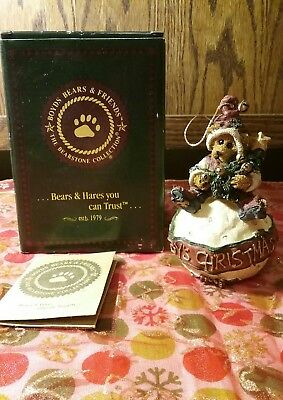 Boyds Bears  BABYS CHRISTMAS ORNAMENT Dated 1998 LIMITED EDITION WITH BOX