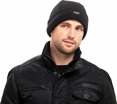 Herren Polar Fleece Thinsulate Bob Hut US Militär Docker Rollmütze außen Beanie