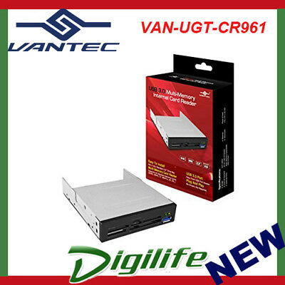 Vantec 3.5'' Internal Multi Card Reader USB 3.0; eSATA; Audio Port UGT-CR961