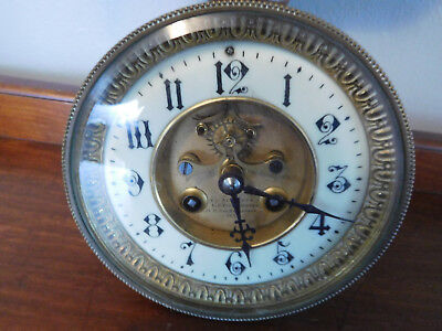 Antique French A D Mougin Movement and Dial