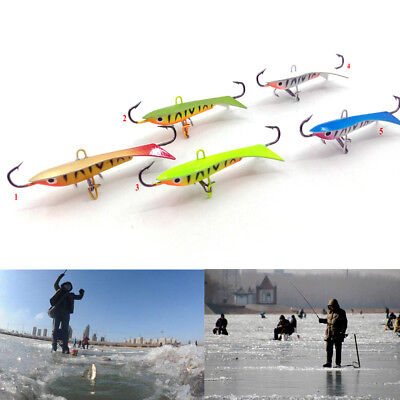 Ice Jig Metal Fishing Lures Artificial Baits Fishing Hooks for Winter Fishing