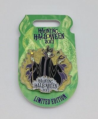 Disney Parks 2017 Maleficent Haunting Halloween Pin Limited Edition 4,500