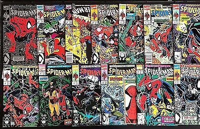 Spider-Man#1-14 Vf/nm Lot 1990 Todd Mcfarlane Run Marvel Comics