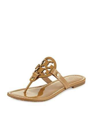 Tory Burch Miller Patent Tan Sand Leather Sandal Women's Size 6,7,8,9