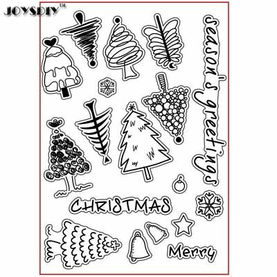 SEASON'S GREETINGS CHRISTMAS Scrapbook DIY photo cards account rubber stamp