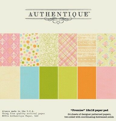 Authentique Promise 12x12 Paper Pad. Shipping is Free