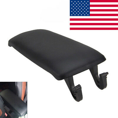 Black Leather Armrest Center Box Console Lid Cover for Audi A4 A6 S4 2000-2008