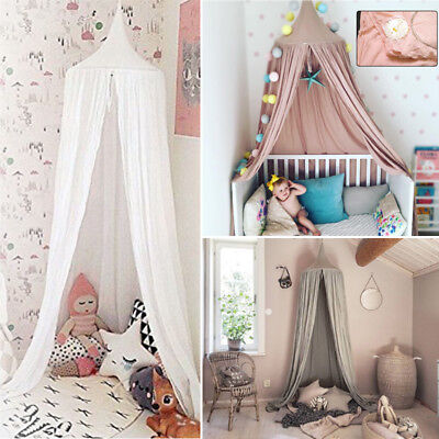 Baby Mosquito Net Bed Canopy Cotton Round Dome Kids Kids Reading Tent Bedcover