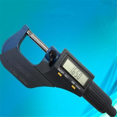 """New Digital Electronic Micrometer Outside 0-1""""/0.00005"""" X-Large LCD Carbide"""