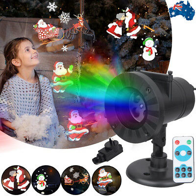 Laser Fairy Star Projector Light Christmas Outdoor Lawn Landscape RG LED Lamp AU