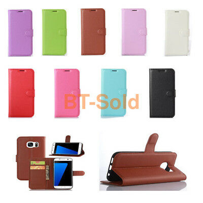 Magnetic Flip Cover Stand Wallet PU Leather Case For LG Mobile Phones 38