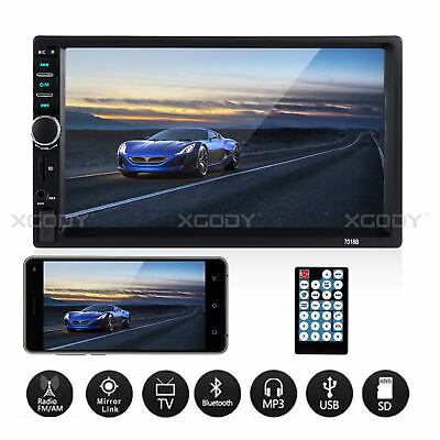 7inch Touch Screen Car Stereo MP5 Player Bluetooth FM Radio USB AUX Mirror Link