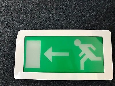 Emergency Exit Sign Recessed Bulk Head - Maintained - Left Arrow