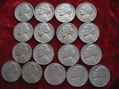 Lot of (17) Different D MINT Jefferson Nickels, 1938D to 1959D! World Shipping!