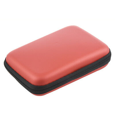 """Portable Hard Disk Drive Shockproof Zipper Cover Bag Case 2.5"""" HDD Bag Red B5E3"""