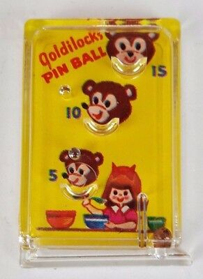1970 Vintage Cracker Jack Prize Toy Goldilocks Pinball Game
