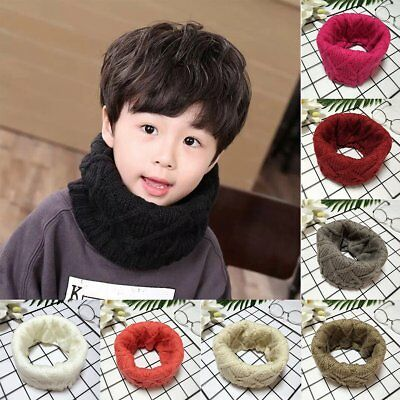 Winter Warm Baby Kids Girls Boys Collar Scarf Knitted Soft O Ring Neck Scarves