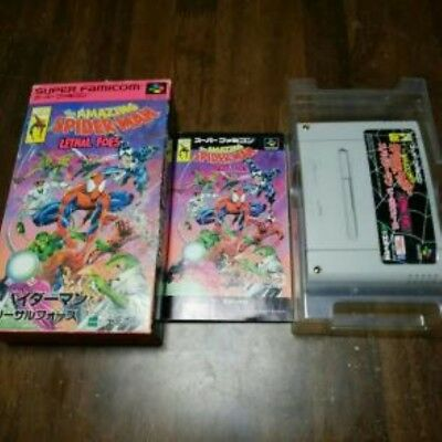 Rare!!! The Amazing Spiderman Lethal Foes Super Famicom SFC Japan Free Shipping