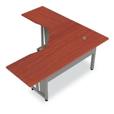 """L-Shapped Workstation 72"""" x 72"""" with 30"""" D Top, Cherry"""