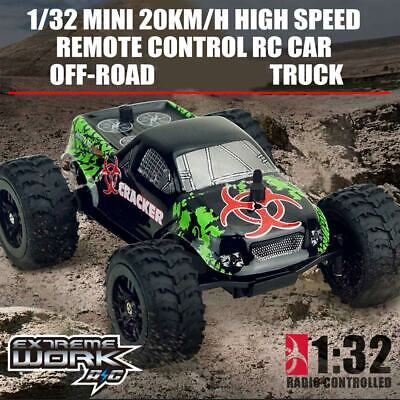 1/32 Mini 20KM/h High Speed Remote Control RC Car Off-road Crawler Truck Gift