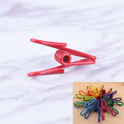 10Pcs Multicolor Metal Binder Clips Paper Clip Office Photo Practical Supplies