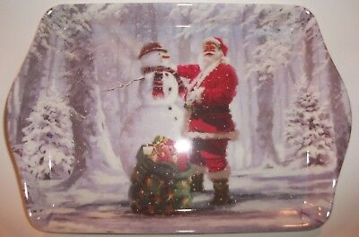 Father Christmas Serving Tray (21 x 14x1.25cm)