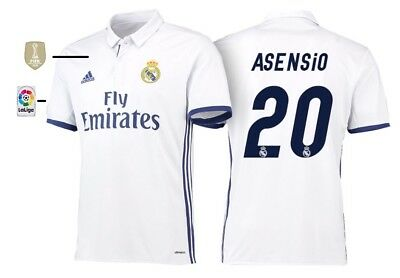 uk availability 3c56a 74655 ASENSIO #20 REAL Madrid 2017-2018 Away Football Nameset for ...