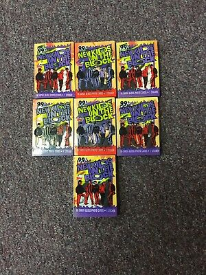 Lot of (7) 1989 Topps New Kids on the Block Trading Card Set (112) Nm/Mt