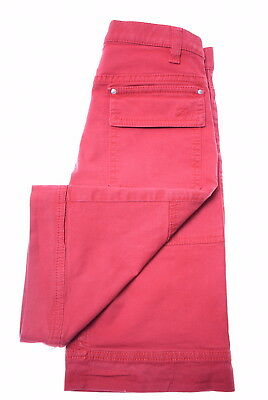FAY Boys Denim Shorts Size 6 Large W22 Red Cotton