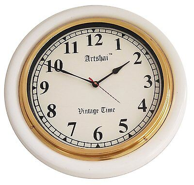 Artshai Copper finish Antique look  metal Vintage wall Clock with roman numbers