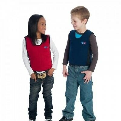 Red Weighted Compression Vest for Kids & Adults – Calming for Sensory Diet,