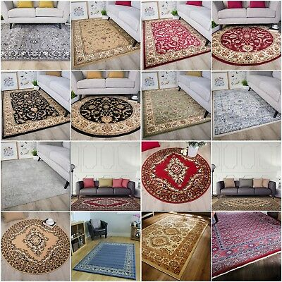 Modern Distressed Traditional Rugs Soft Warm Small Extra Large Carpet Floor Rug