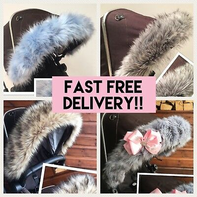 My Babiie fit pram hood FUR HOOD TRIM, FAST DELIVERY, Universal fit