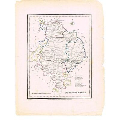 Antique Map 1835 - Huntingdonshire for Lewis Topographical Dictionary