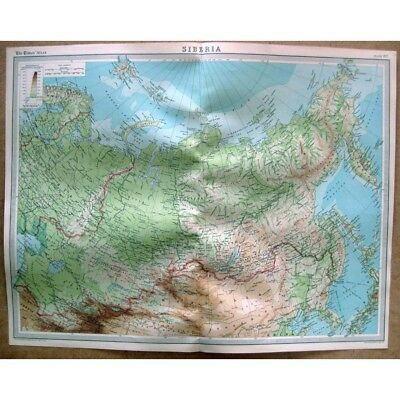 SIBERIA - Vintage Map 1922 by Bartholomew