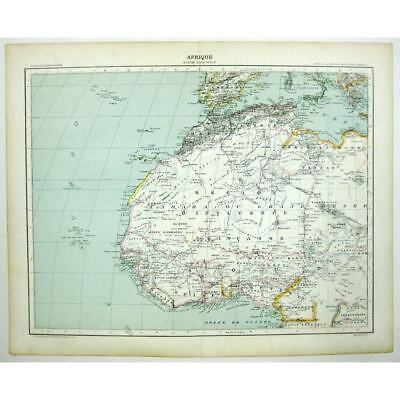 AFRICA (Afrique) NW Cameroon, Algeria, Morocco, Senegal - Antique Map 1891