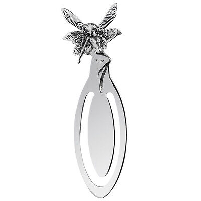 Hallmarked Sterling Silver Fairy Bookmark + Free Gift Case 8834
