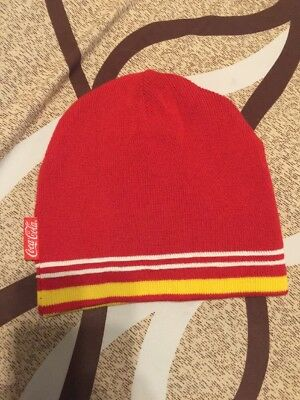 Coca-Cola Beanie Hat Red  And Yellow NEW   FREE SHIPPING