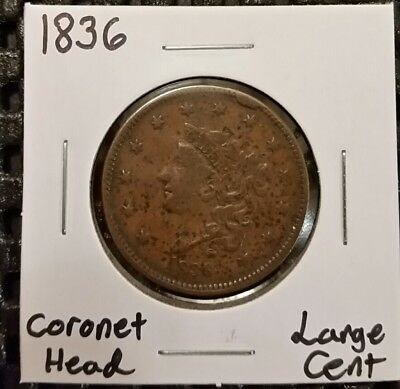 1836 Coronet Head Large Cent!