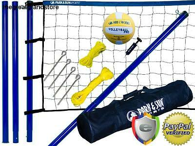Volleyball Net Set System Outdoor Backyard Sports Spiker Steel Durability Tape