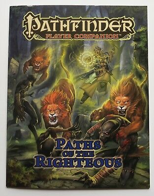 Pathfinder Player Companion Paths of the Righteous Paizo Book