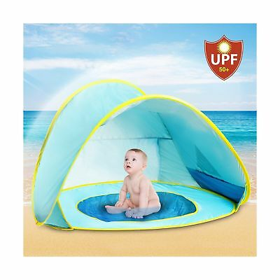 Hippo Creation UV Protection Baby Beach Tent with Pool Pop-up Sun Canopy Shel...