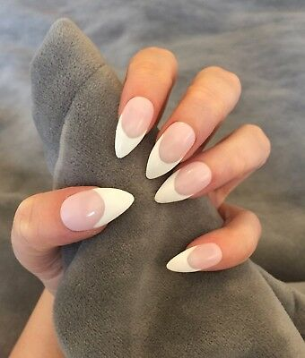 FALSE NAILS - Classic Pink & White, French Polish - Stick On - The Holy Nail
