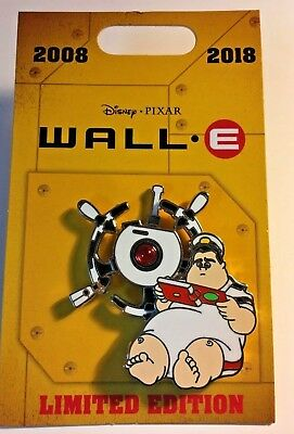 WALL-E 10th Anniversary Pin CAPTAIN MCCREA SPINNER Disney Pixar 2018 LE2000