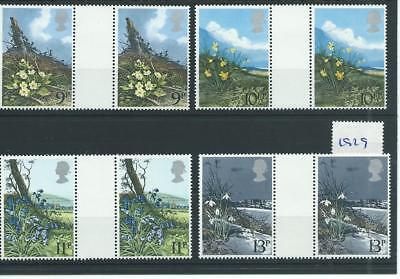 wbc. - GB - COMMEMS - 1979 - WILD FLOWERS - GUTTER PAIRS - UNM MINT SETS